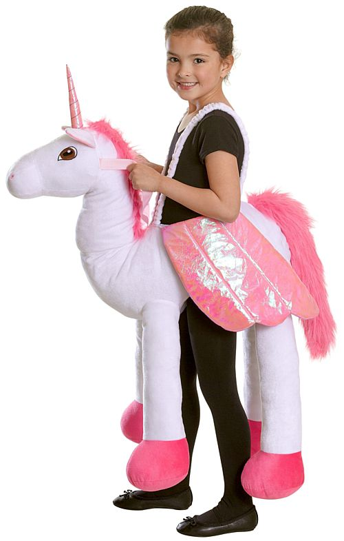 Ride On Unicorn Fancy Dress Costume - One Size