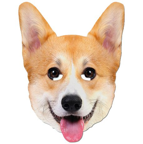The Queen's Corgi Card Mask