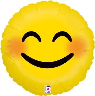 Emoji Smiley Foil Balloon - 18""