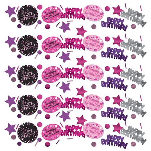 "Pink Celebration ""Happy Birthday"" Confetti - 34g - Pack of 3"