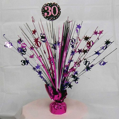 "Pink Celebration ""30th Birthday"" Centrepiece - 33cm"