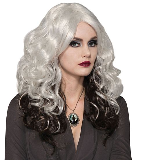 Silver And Black Cast Wig