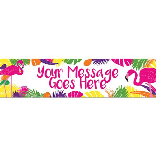 Tropical Flamingo Personalised Banner - 1.2m