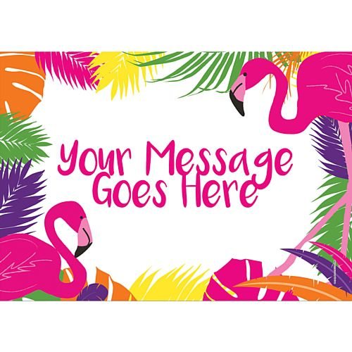 Tropical Flamingo Personalised Poster - A3