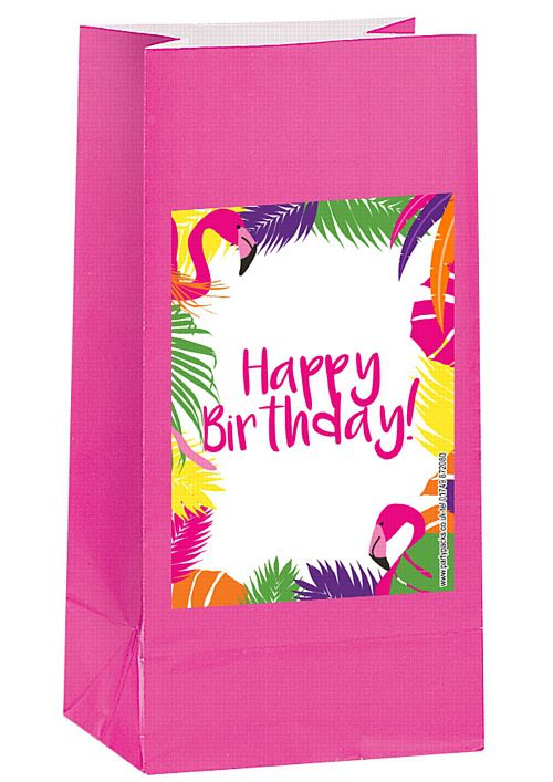 Tropical Flamingo Party Bag Kit - Pack of 12