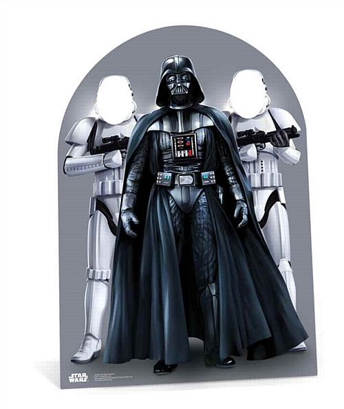 Child-Sized Star Wars Darth Vader Stormtroopers Stand-In - 1.33m