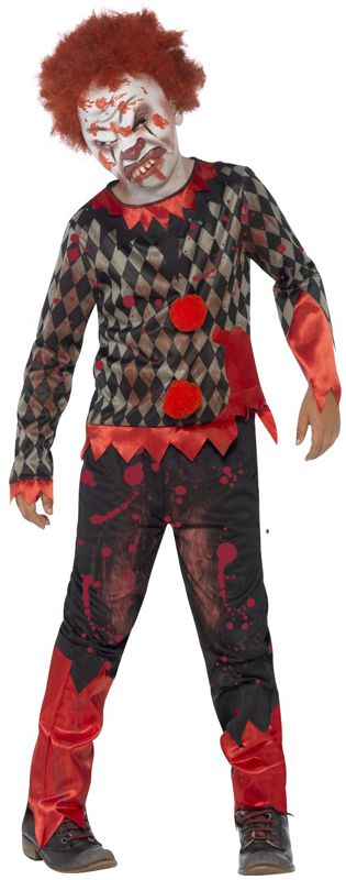 Children's Deluxe Zombie Clown Costume
