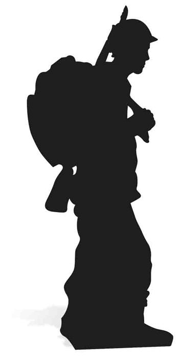 Solider Silhouette Cardboard Cutout - 1.75m
