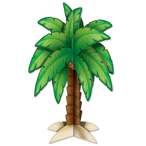 3D Palm Tree Centerpiece - 29.8cm