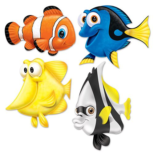 Tropical Fish Cutout Decorations - 42.5cm - Pack of 4