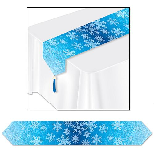 Snowflakes Paper Table Runner - 1.83m