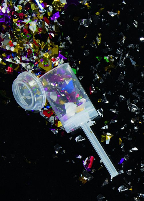 Multi Colour Foil Confetti Push Popper - Each
