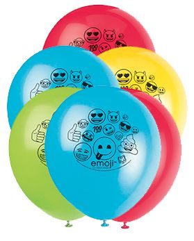 "Emoji Party Latex Balloons - 12"" - Pack of 8"