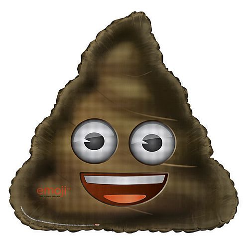 Emoji Smiley Poop Foil Balloon - 28""
