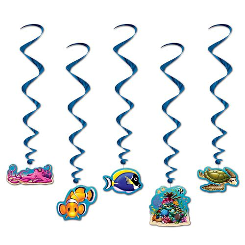 Under The Sea Whirls - Assorted Designs - 97.8cm - Pack of 5