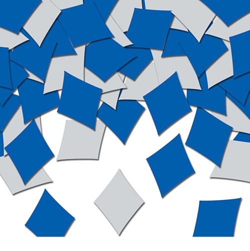 Blue and Silver Harlequin Table Confetti - 14g