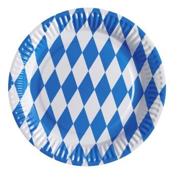 Click to view product details and reviews for Oktoberfest Bavarian Blue And White Paper Plates Pack Of 8.