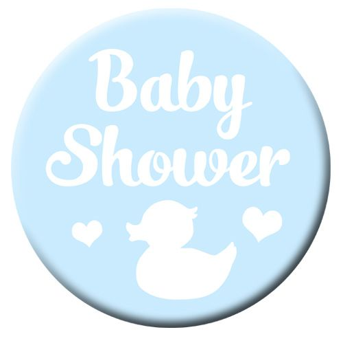 Pale Blue Baby Shower Badge- 58mm- Each