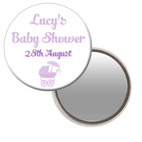 Personalised Pocket Mirror- Baby Shower