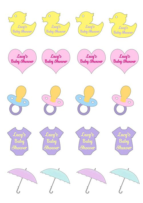 Personalised Baby Shower Tattoos- Pack of 20