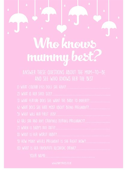 Who Knows Mummy Best? Game- Pack Of 8