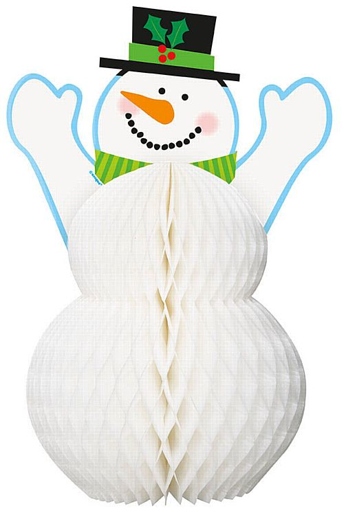 Holiday Snowman Honeycomb Centrepiece - 30.4cm