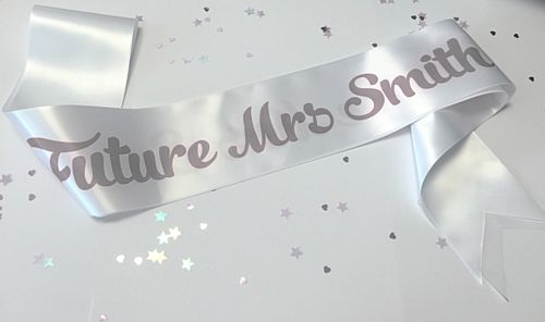 The Future Mrs... Add Your Surname Sash