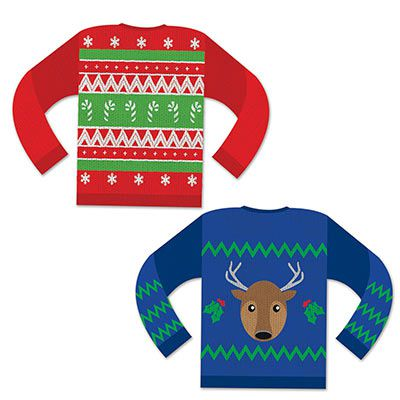 Christmas Jumper Card Cutouts - 37.5cm - Pack of 2