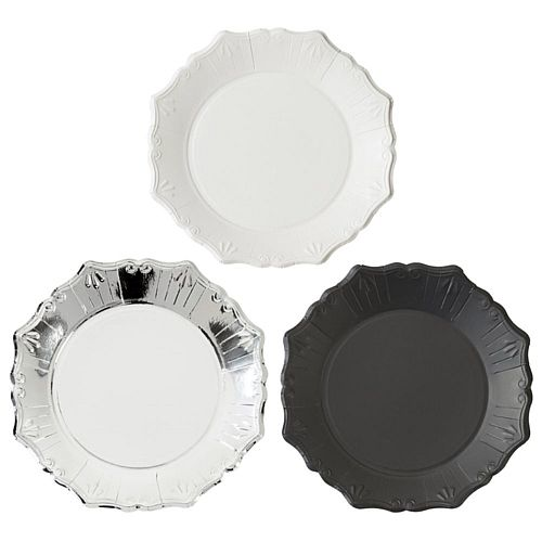 "Party Porcelain Mixed Paper Plates - 8"" - Pack of 12"
