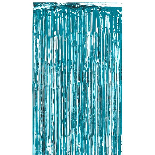 Baby Blue Shimmer Curtain - Flame Retardant -  2.4m