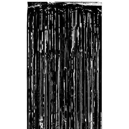 Black Shimmer Curtain - Flame Retardant - 2.4m