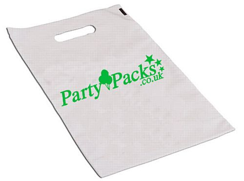 2000 Custom Plastic Party Bags- 1 Colour Print