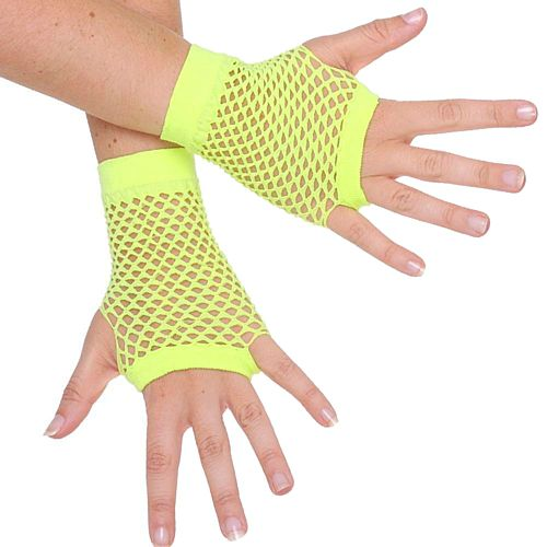 Neon Yellow Fingerless Gloves