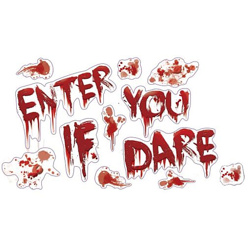Bloody Halloween Wall Decorations - Sheet of 12