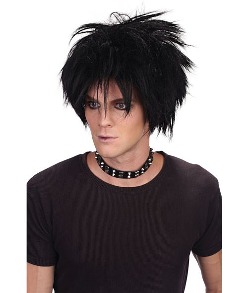 Black Spiky Emo Wig