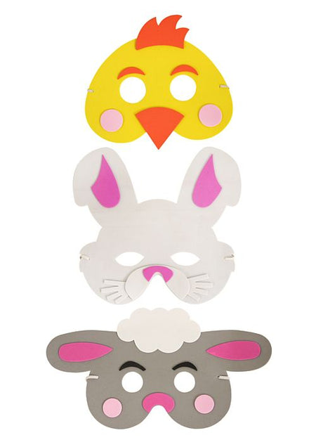 Easter Foam Masks - assorted designs - Each