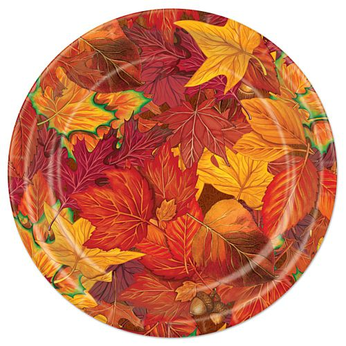 Autumn Leaf Paper Plates - 22.9cm - Pack of 8