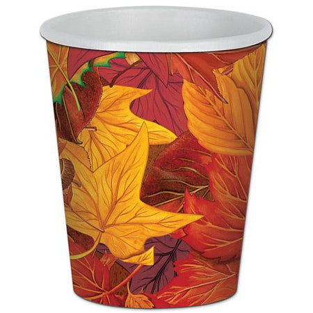 Autumn Leaf Beverage Cups - 255ml - Pack of 8