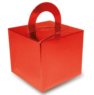Metallic Red Favour Box - 6.5cm - Each