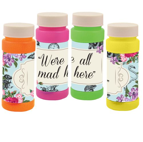 We're all mad here Bubbles - Truly Wonderland - Pack of 6