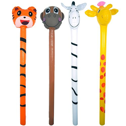 Inflatable Jungle Hobby Horse - 1.18m - Priced Individually