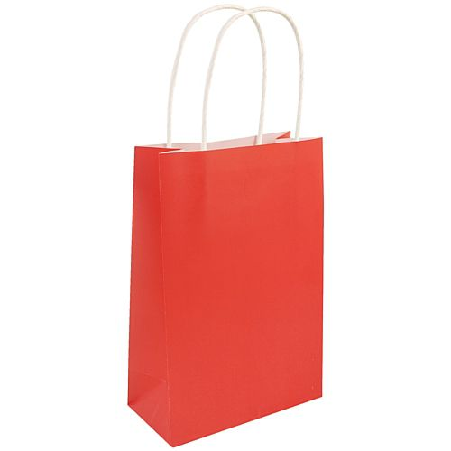 Red Paper Party Bags - 21cm - Each