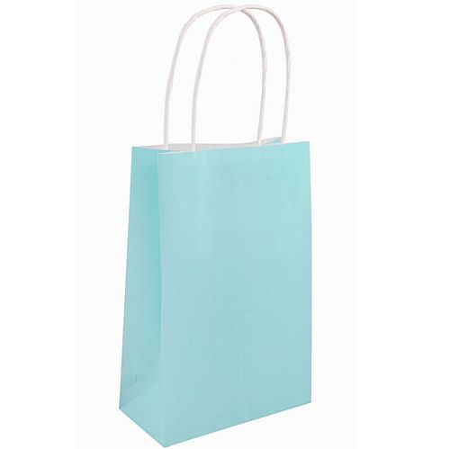Light Blue Paper Party Bags - 21cm - Each