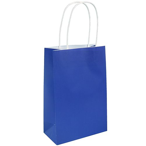 Royal Blue Paper Party Bags - 21cm - Each