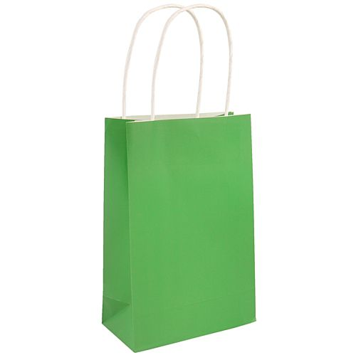 Green Paper Party Bags - 21cm - Each