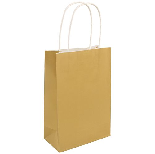 Gold Paper Party Bags - 21cm - Each