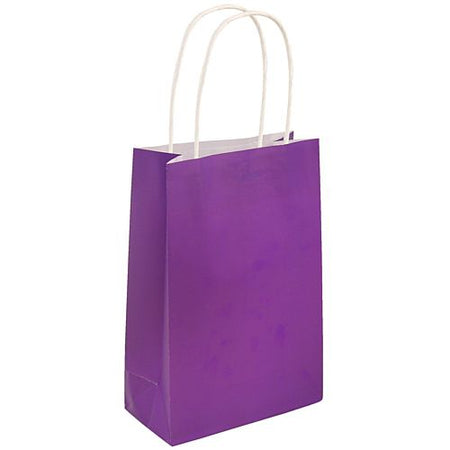 Purple Paper Party Bags - 21cm - Each