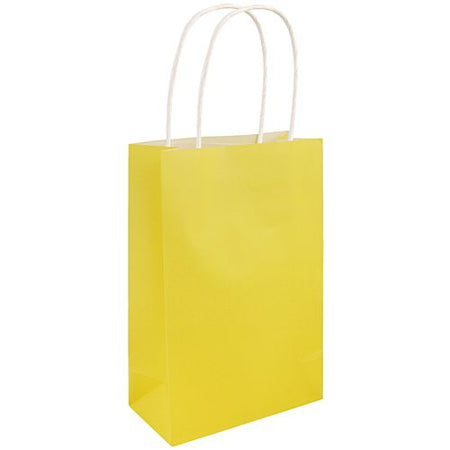 Yellow Paper Party Bags - 21cm - Each