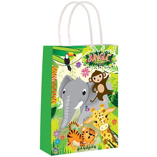 Jungle Paper Party Bags - 21cm - Each