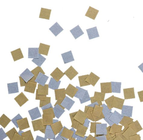 Square Silver and Gold Tissue Confetti - 14g